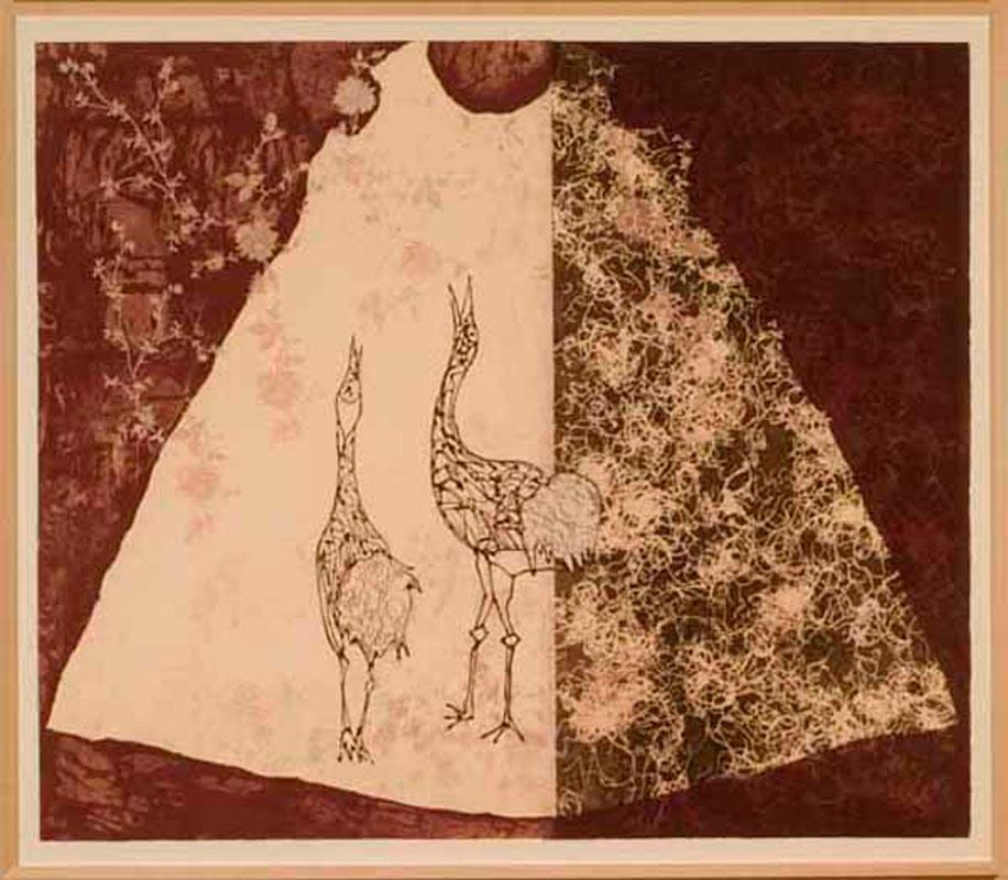 Debra Olin, mono print